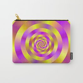Yellow and Pink Spiral Rings Carry-All Pouch