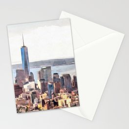New York, panoramic view, USA Stationery Cards
