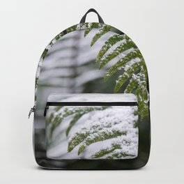 Fern Forest Winter Pacific Northwest Snow II - Nature Photography Backpack