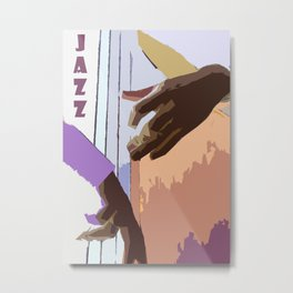 Jazz Illustration Metal Print