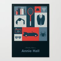 annie hall Canvas Prints featuring Annie Hall by Sherif Adel