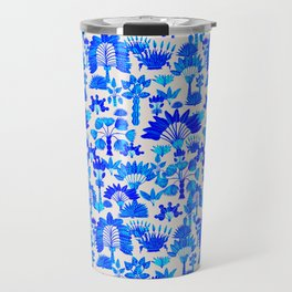 Exotic Garden Blue Travel Mug