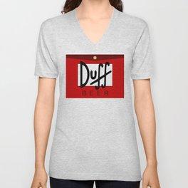 Duff Beer Logo Red Unisex V-Neck