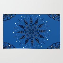 Central Mandala Blue Lapis Rug