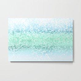 Aqua Seafoam Ocean Glitter #1 #shiny #pastel #decor #art #society6 Metal Print