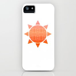 Rising Sun - mirrored pattern - warm tones - red orange pink - doodle iPhone Case