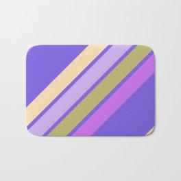 Purple Yellow and Green Stripes Bath Mat