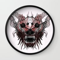beast Wall Clocks featuring Beast by WES EXOTIC IMAGERY