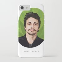 james franco iPhone & iPod Cases featuring James Franco by WeedPornDaily