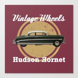 Vintage Wheels: Hudson Hornet Canvas Print