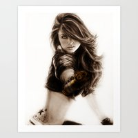 selena Art Prints featuring Selena-Q by Isaiah K. Stephens