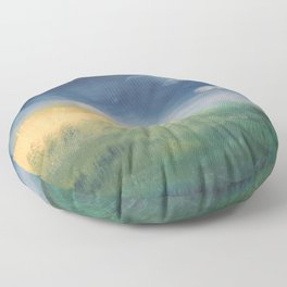 SunnySide Up - Abstract Nature Floor Pillow