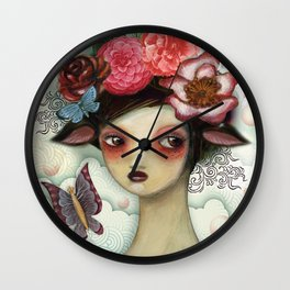 Bathing Beauty by CJ Metzger Wall Clock