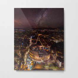 Nightscape in Rome Metal Print
