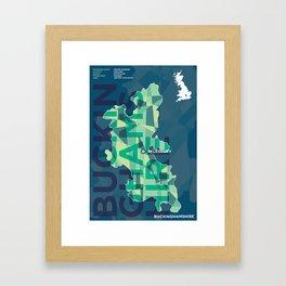 Buckinghamshire county poster Framed Art Print
