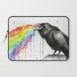 Raven Tastes the Rainbow Laptop Sleeve