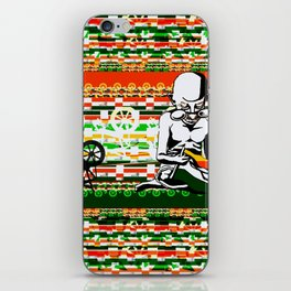 Ghandi and his Spinning Wheel iPhone Skin