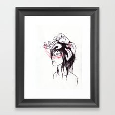 all the thoughts that won't sleep Framed Art Print