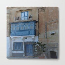 A Blue Entrance Metal Print