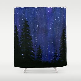 Twinkle, Twinkle, Stars Night Sky Painting Shower Curtain