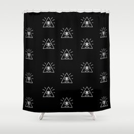 Eye of Providence Pattern Shower Curtain