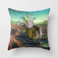 archan nair Throw Pillows featuring Dua:Talum by Archan Nair