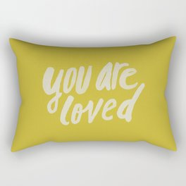 You Are Loved x Mustard Rectangular Pillow
