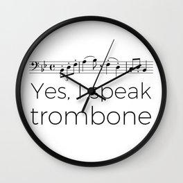I speak trombone Wall Clock