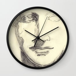 Head of a Goddess - sketch Wall Clock