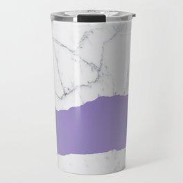 Elegant violet gray white modern marble pattern Travel Mug
