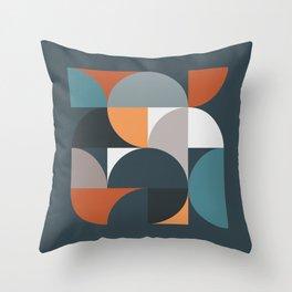 Mid Century Geometric 11/2 Throw Pillow