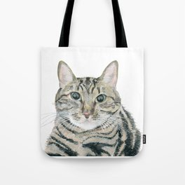 The portrait of the cat Tote Bag