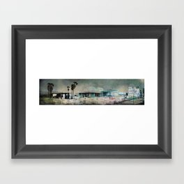 Sand Storm on Twentynine Palms Highway Framed Art Print