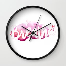 Breathe #buyart #society6 #inhale #exhale Wall Clock