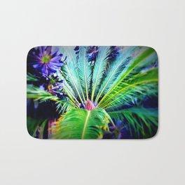 Tropical Plants and Flowers Bath Mat