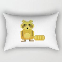 Pixel Racoon Rectangular Pillow