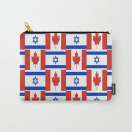 Mix of flag: canada and israel Carry-All Pouch