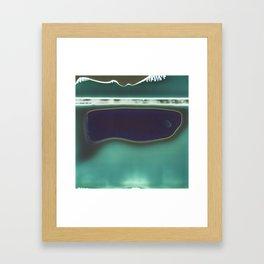 Instant Series: Teal Framed Art Print