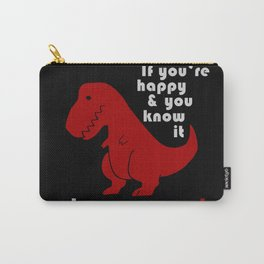 unhappy t-rex Carry-All Pouch