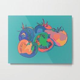 Abstract Tomatoes Metal Print