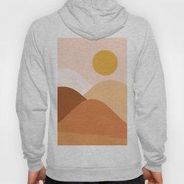 Abstraction_SUNSET_MOUNTAIN_BEIGE_POP_ART_Minimalism_001M Hoody