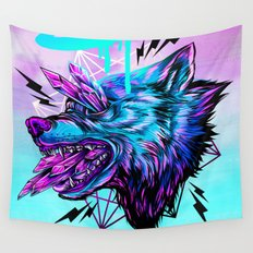 Crystal Wolf Wall Tapestry