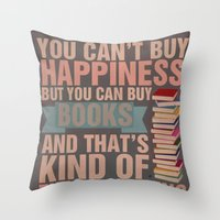 books Throw Pillows featuring Books by thespngames