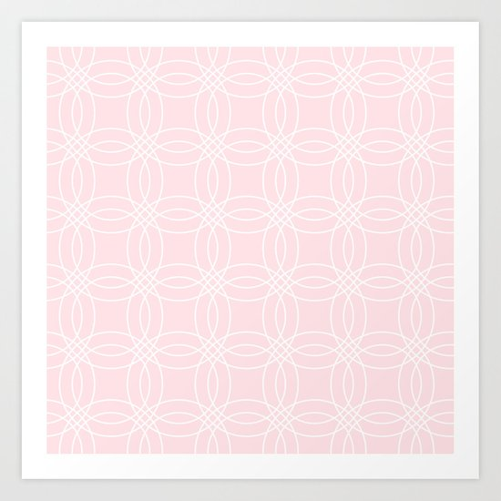 Simply Vintage Link White on Pink Flamingo Art Print