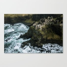 Castle ruin by the irish sea - Landscape Photography Canvas Print
