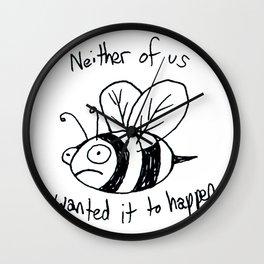 Anxiety Bee Wall Clock