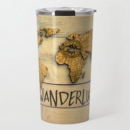 Wanderlust Vintage Map Travel Mug