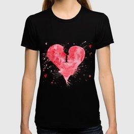 Watercolor Kiss Heart T-shirt