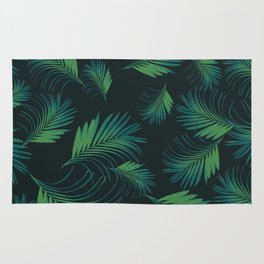 Tropical Night Palms Pattern #1 #tropical #decor #art #society6 Rug