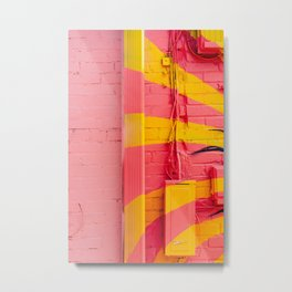 Pink and Yellow Metal Print